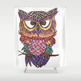 Hoo-niverse Shower Curtain