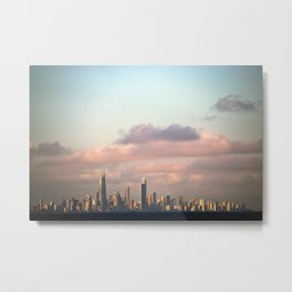 City over Sea Metal Print