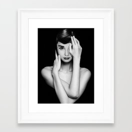 Audrey Hepburn Unpublished Photos Framed Art Print