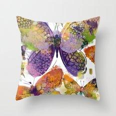 3 farfalle Throw Pillow