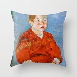 Sekine Shoji - Boy (1919) Throw Pillow