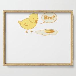 Küken Spiegelei Kaputtes Ei Hühner Serving Tray