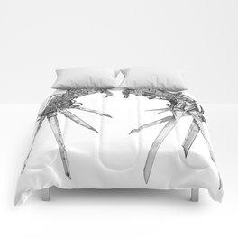 Scissorhands (BnW) Comforters