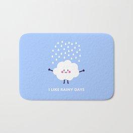 Cute rain cloud Bath Mat