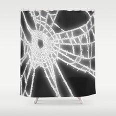 Surrealistic Spider Web Shower Curtain