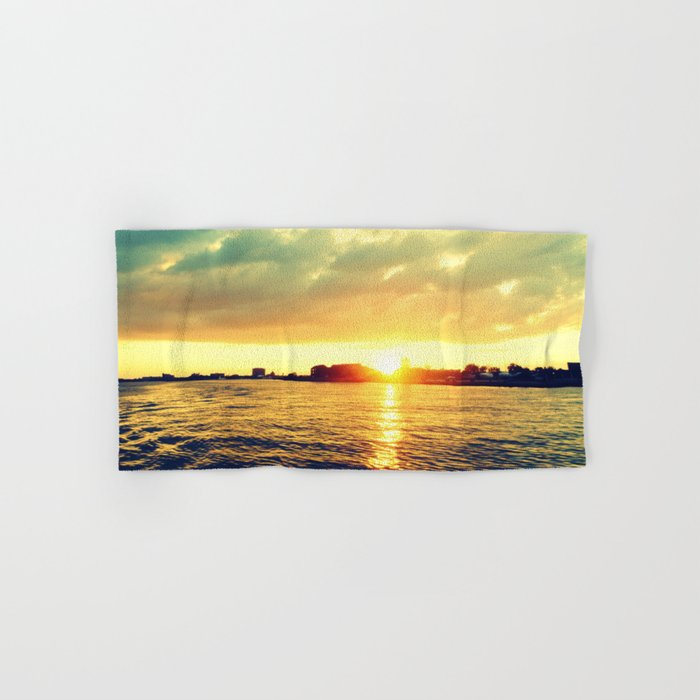 Sunset watEr :Houses Off the River Hand & Bath Towel