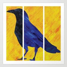 Color Crow Art Print