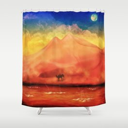 Desert Hot Shower Curtain