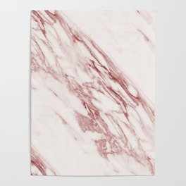 Marble Rosa Pallido, Pale Pink Poster