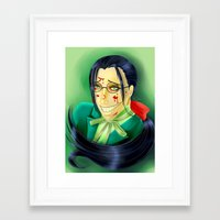 black butler Framed Art Prints featuring Butler Grell Colour Challenge by Falln