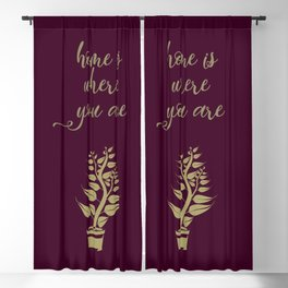 Home is where you are, family love print Blackout Curtain