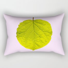 Bright Green Leaf On A Pink Background #society6 #buyart Rectangular Pillow