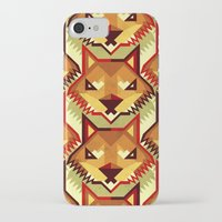iPhone Cases featuring The Bold Wolf pattern by Yetiland