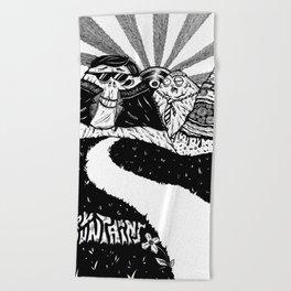 Trippy Mountains Beach Towel