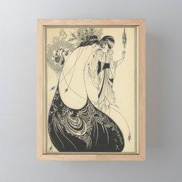 AUBREY BEARDSLEY Salome Oscar Wilde - The Peacock Skirt Framed Mini Art Print
