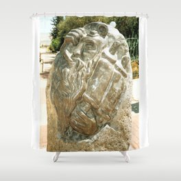 Father by Shimon Drory Shower Curtain