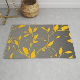 FLOWERY VINES | grey yellow Rug
