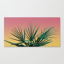 Vaporwave Palm Life - Miami Sunset Canvas Print