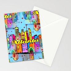 Atlanta Popart by Nico Bielow Stationery Cards