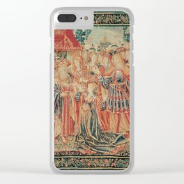 Brussels Manufactory - The Story of Troy. Cassandra intercedes before Priam (1515-25) Clear iPhone Case
