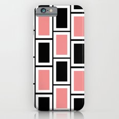 Black and Pink Bricks iPhone 6s Slim Case