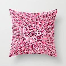 Fuchsia Chrysanthemum Throw Pillow