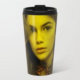 Kaya Gerber - Celebrity (Florescent Color Technique) Travel Mug