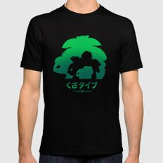 Mega Grass LARGE Black Mens Fitted Tee