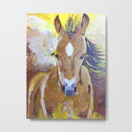 Cute foal. Original painting. Metal Print