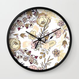 September Garden Wall Clock
