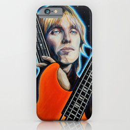 Tom Petty Tribute Mural for 70th Birthday Bash in Gainesville Florida iPhone Case