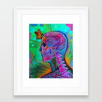 psychology Framed Art Prints featuring Reverse Psychology by RandyConnerPaintings