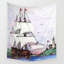 The Sea Lion in full sail Wall Tapestry