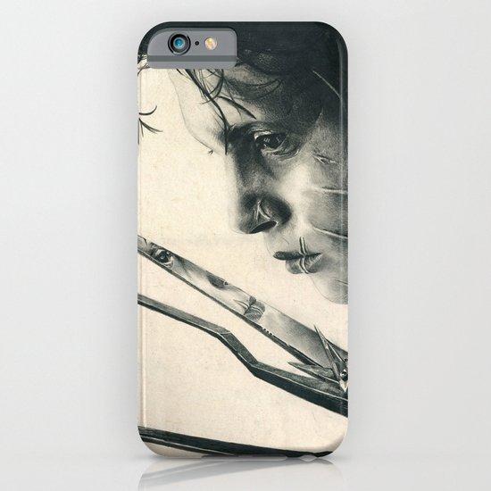 Edward Scissorhands ~ Johnny Depp Traditional Portrait Print iPhone & iPod Case