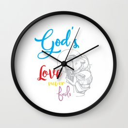 God's love bible jesus loves god religion crusader Mission Sign Wall Clock