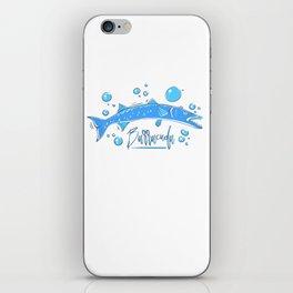 Big Blue Barracuda iPhone Skin