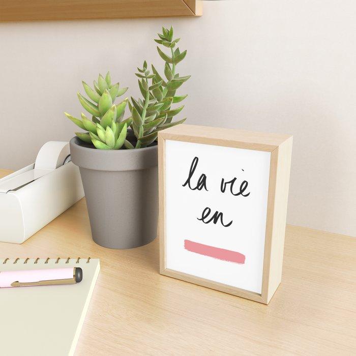 La Vie en Rose x Telma W. Framed Mini Art Print