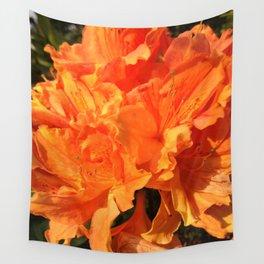 Orange Azaleas Wall Tapestry