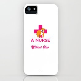Pitbull Lover Funny Hospice Nurses Profession Gift iPhone Case