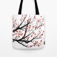 sakura Tote Bags featuring Sakura by rchaem