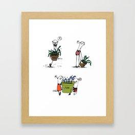 Bear and Weasel: The Love Fern Framed Art Print
