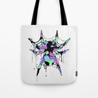 spider Tote Bags featuring SPIDER by maivisto