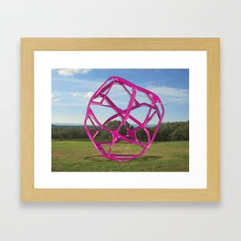 Purple Sphere - Sculpture Implants Series Framed Art Print