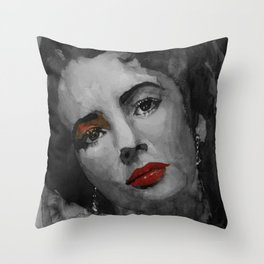 Elizabeth Taylor Throw Pillow