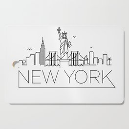 Minimal New York Skyline Design Cutting Board