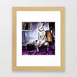 """Demuring Lagomorpha"" By Nacho Dung. Framed Art Print"