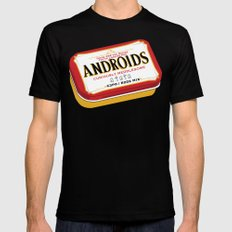 Androids Mens Fitted Tee MEDIUM Black