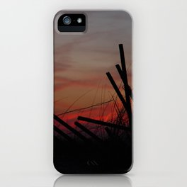 Fallen Down Fence Sunset iPhone Case