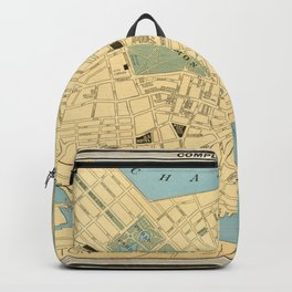 Vintage Map of Boston MA (1890) Backpack