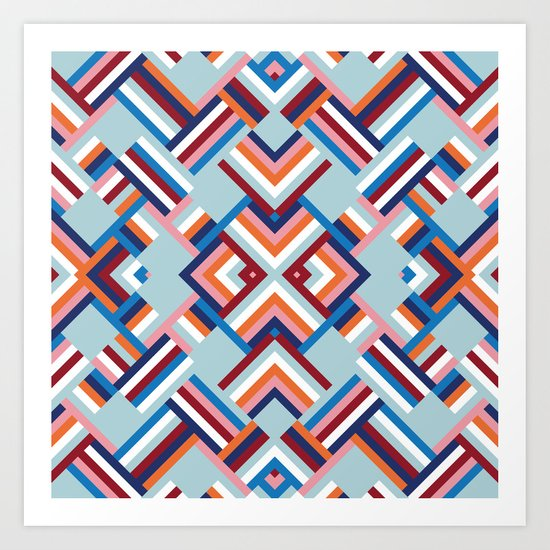 Herringbone Pattern No.2 Art Print